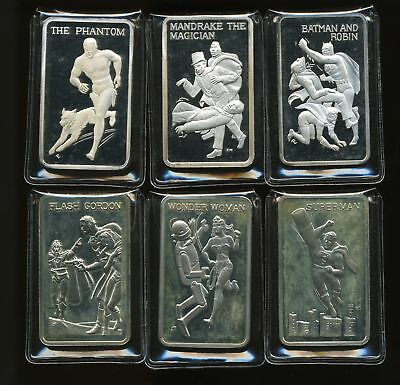 Mt Everest Mint Heroes of the Comics 1 oz Fine Silver Proofs w/ Wonder Woman