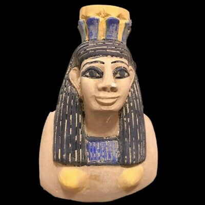 Beautiful Ancient Egyptian Bust Statue 300 Bc (2) Large !!!!