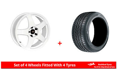 """Alloy Wheels & Tyres 15"""" Team Dynamics Pro Race 3 For Ford Courier 91-06"""