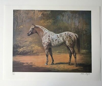 Helen Hayes Signed Original Lithograph Appaloosa Stud Limited Edition Realism