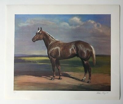 Helen Hayes Signed Original Lithograph Quarter Horse Limited Edition Realism
