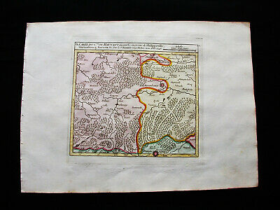 1749 VAUGONDY -orig map: NETHERLANDS HOLLAND BELGIUM HAINAUT NAMUR PHILIPPEVILLE