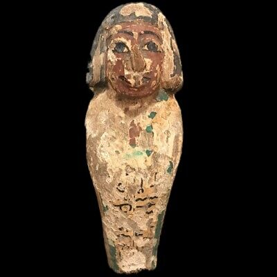 Beautiful Ancient Huge Egyptian Wooden Statuette 300 Bc (1) 19.7 Cm  High !!!!!
