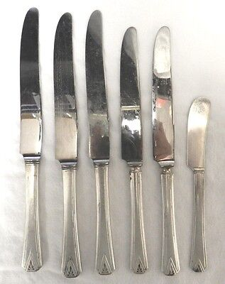 1929 Deauville Knives Community Silver Plated Mixed Lot Dinner Luncheon Butter