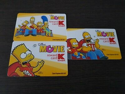 the Simpsons Movie Kmart lot NO VALUE Collectible Gift Card