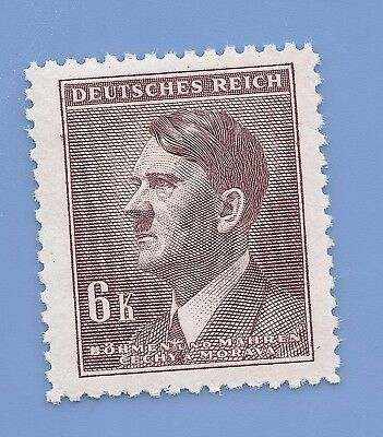 Nazi Germany Third Reich Nazi B&M Adolf Hitler 6k stamp WW2 ERA