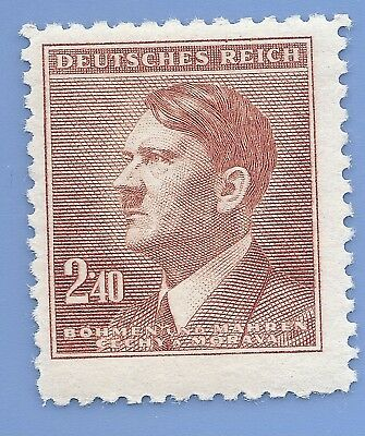 Nazi Germany Third Reich Nazi B&M Adolf Hitler 2.40 stamp WW2 ERA