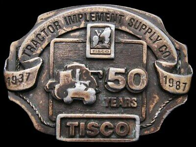II21160 VINTAGE 1987 ***TRACTOR IMPLEMENT & SUPPLY CO*** TISCO 50th YEAR BUCKLE