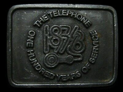 Kj29146 Vintage 1976 **The Telephone** One Hundred Years Of Service Belt Buckle