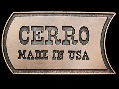 IJ31171 VINTAGE 1970s ***CERRO MADE IN USA*** BRASS BELT BUCKLE