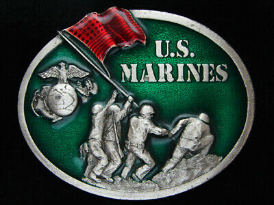 Pf07111 Vintage 1982 **United States Marines** Military Armed Forces Belt Buckle
