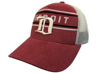 86df1a1367f1f Detroit Red Wings Adidas Red CCM Vintage Mesh Structured Snapback Hat Cap