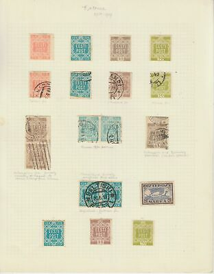 Estonia early collection on 7 pages