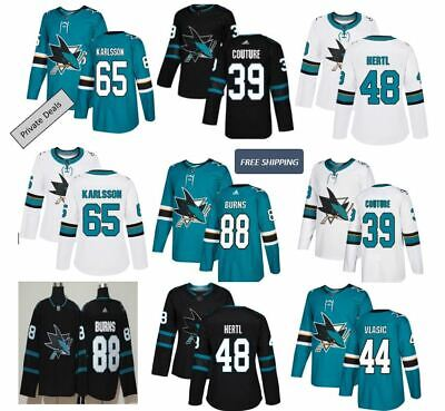 3b377188570 San Jose Sharks Burns#88 Couture#39 ALLPLAYERS Men's NHL Hockey STITCHED  Jersey