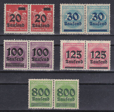 Germany Deutsches Reich 1923 Inflation Pairs Selection MNH