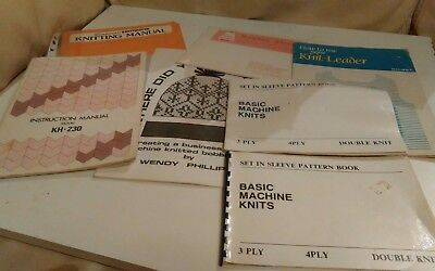 knitting machine manuals etc