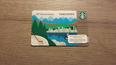 Starbucks Canada Vancouver 25th Anniversary gift card. WILL COMBINE SHIPPING