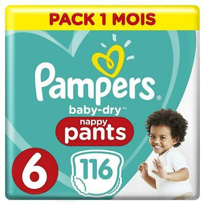 Pampers - Baby Dry Pants - Couches-culottes Taille 6 (+15 kg) - Pack 1 mois...