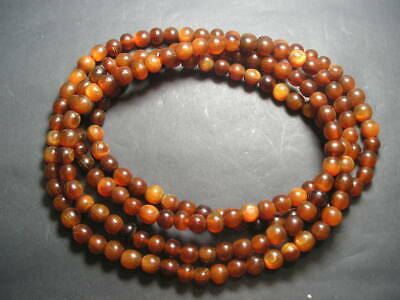 180 Yak Or  Buffalo Horn Beads Antique Necklace 150 grams African / Chinese