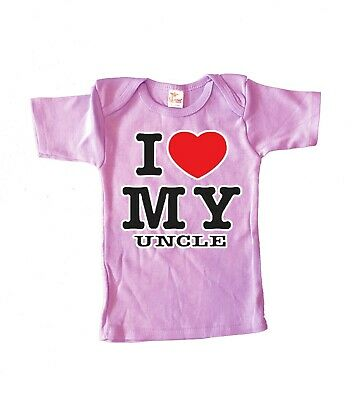 6-12 M Cute Funny Infant Tee I Love My Uncle Gift For Niece Baby Shower Gifts