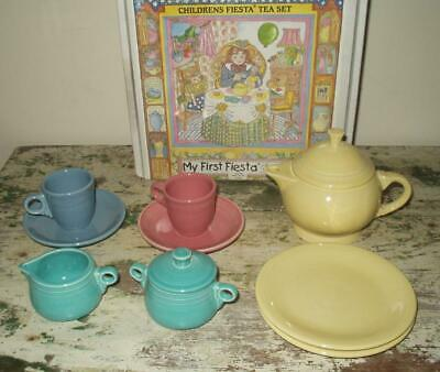My First Fiesta Childrens Tea Set Complete with Box 11 Pieces Homer Laughlin