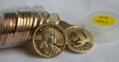 Roll of 20 2005 S Proof SACAGAWEA Dollars  $1 Twenty Native American Coins Roll