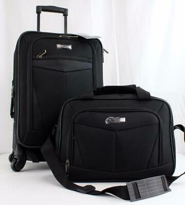"Travel Select Nampa 2 Pc. Carry On Luggage Set Black 20"" 14"""