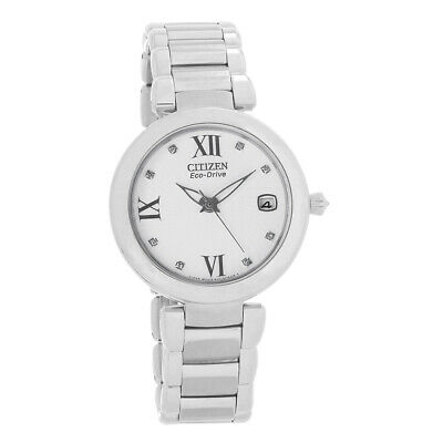 Citizen Eco Drive Ladies Signature Marne White Dial Watch EO1110-53A