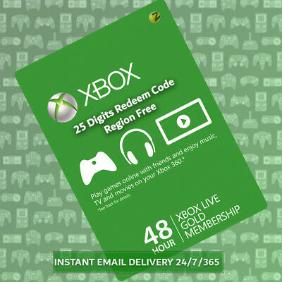 Xbox Live Gold Trial 48 Hours - Region Free Instant Dispatch 24/7/365