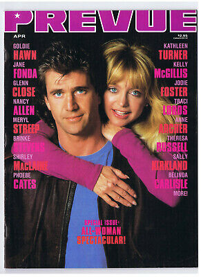PREVUE #79 1990 MEL GIBSON GOLDIE HAWN BIRD ON A WIRE TRACI LORDS Very Good