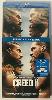 Creed II 2 (Blu-Ray+DVD+Digital) BRAND NEW FACTORY SEALED