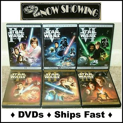 Star Wars: The Complete Saga Own All 6 Widescreen Films(Authentic USA 9-DVD Set)