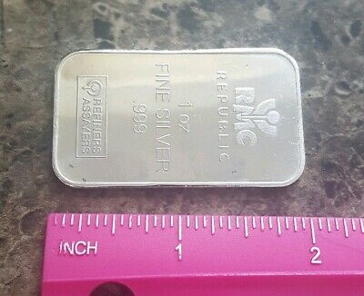 RMC Republuc - 1 troy oz .999 Fine Silver Bullion Bar Ingot
