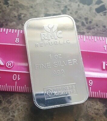 RMC Republuc - 1 troy oz .999 Fine Silver Bullion Bar