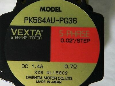 Vexta Pk564Au-Pg36 5-Phase 0.02 Deg Per Step Dc Stepping Motor Stepper