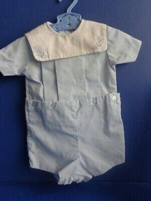 Vintage Baby Boy Romper Outfit- Sz 12 Months