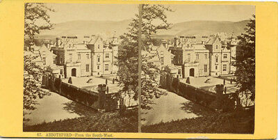 Abbotsford From South-West  Galashiels Scotland Stereoview