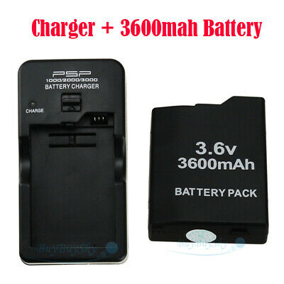 3.6V Rechargeable Battery Pack for Sony PSP 2000 2001 Slim Series + AC Charger