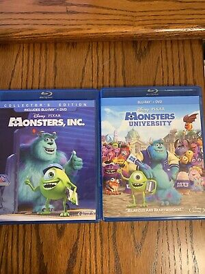 Disney Pixar Monsters, Inc. and Monsters University BLU-RAY + DVD set