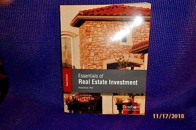 New Essentials Of Real Estate Investment 10Th Edition Dearborn David Sirota Phd