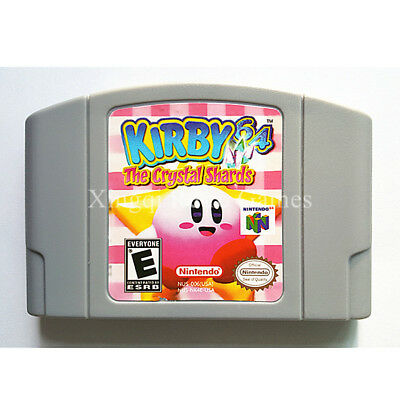 KIRBY 64: THE Crystal Shards N64 Nintendo 64 Game Case Box Cover
