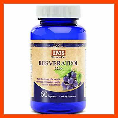 Resveratrol 1200Mg Supplement – Polyphenol Rich Blend W Grape Seed Extract GREEN