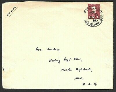 Ireland Airmail Cover Solo Father Wadding 1sh/3p Stamp to USA 1957