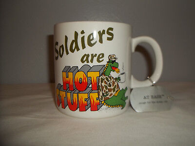 """American Greetings Designers Collection """"soldiers Are Hot Stuff"""" Stoneware Mug"""