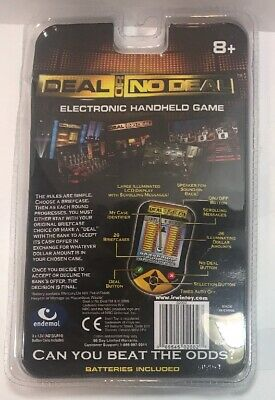 Deal or No Deal Travel Size Electronic Video Game Handheld New Still Sealed!