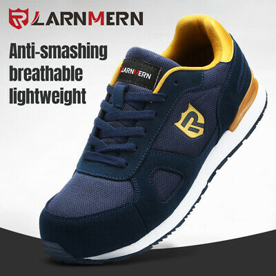 LARNMERN Work Shoes Steel Toe for Men Safety Working Shoes Breathable Reflective