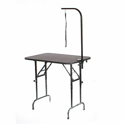 Ajustable Height Dog grooming table 58-86cm with arm clamp noose by Pedigroom