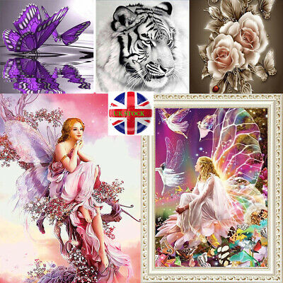 Full Drill 5D Diamond Painting Flowers DIY Embroidery Cross Stitch Home Decor UK