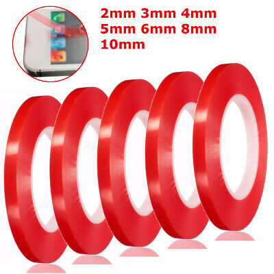 50M 2mm 4mm 5mm 10mm Adhesive Double Sided Sticky Car Tape Mobile Phone Repair