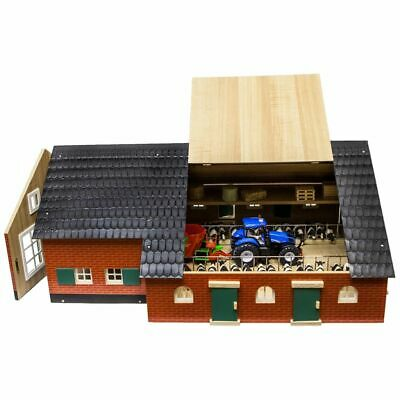 Kids Globe Farmhouse with Barn 1:32 Kids Play Centre Wood Toy Playset 610111